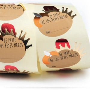 pegatinas navideñas de Reyes Magos