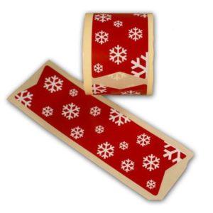 Cierrabolsas navideño rojo copos
